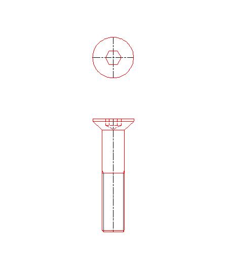B1194六角穴付き皿ボルト並目